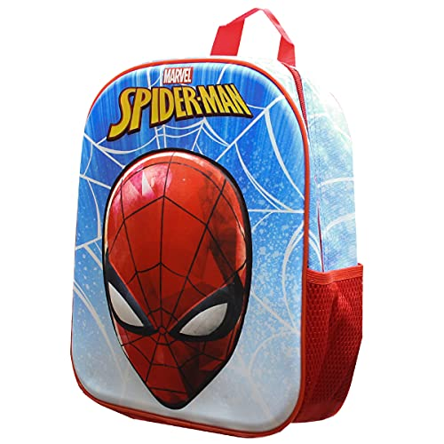 Skyline Mochila Escolar 3D, Spiderman, Mochila Infantil para Niños, 25x31x10 CM, Mochila Poliéster+EVA, Material Escolar, Vuelta al Cole, Ideal para...