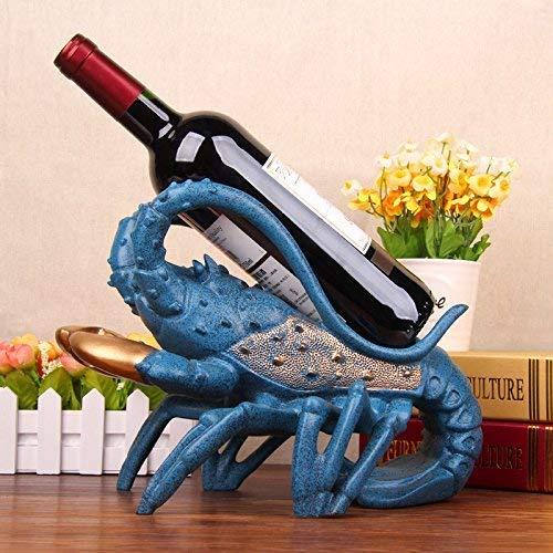 Praktische kreative Wein Weinrahmen Unterstützung Hummer Dekoration Dekoration Bar Eingang Home Dekoration Wohnzimmer TV-Schrank Regal Display Business Geschenke Geschenk Geschenk 21 cm Blue Lobster