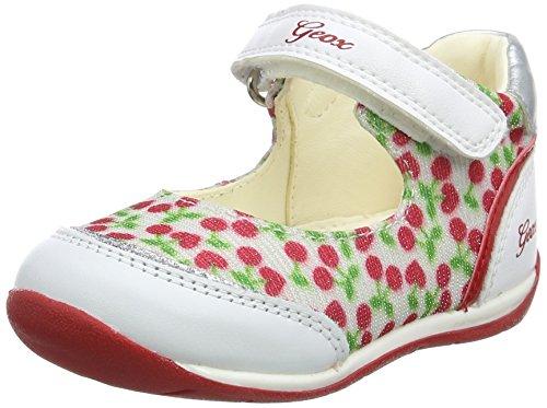 Geox B Each B, Ballerines Garçon Baby-Girl, Blanc (White/Red), 23 EU