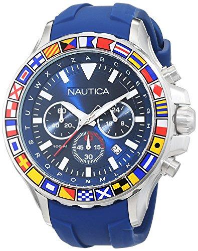 Nautica Reloj Analógico de Cuarzo para Hombre con Correa de Silicona – NAD19562G
