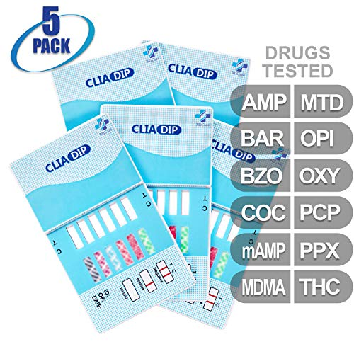 MiCare [5pk] - 12-Panel Urine Drug Test Card (AMP/BAR/BZO/COC/mAMP/MDMA/MTD/OPI/OXY/PCP/PPX/THC) #MI-WDOA-1124