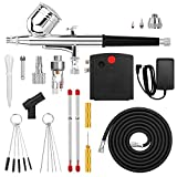 Airbrush, AGPTEK Mini Airbrush with Air Compressor, Portable Airbrush Kit for Cake Decorating, Craft Tools, Makeup, Painting and Manicure