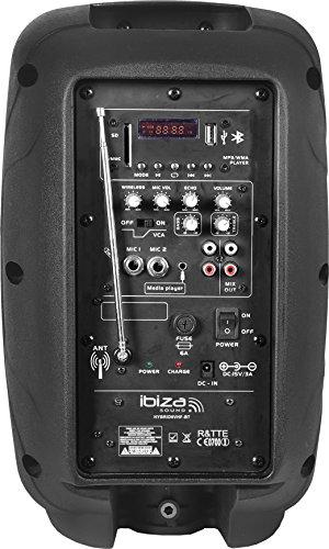 Ibiza HYBRID8VHF-BT-UK - Sistema de sonorización portátil y autónomo de 8