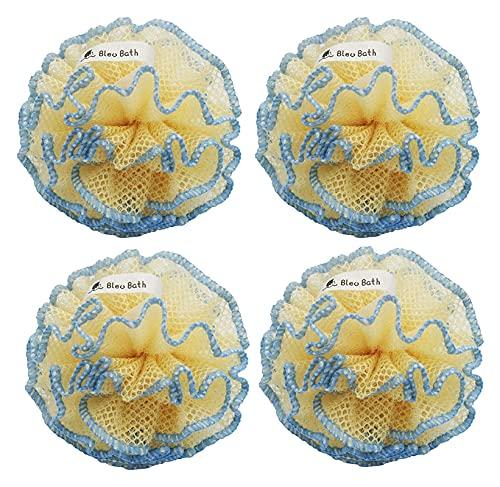 Lzpzz Exfoliating Body Scrubber Puff Limpieza Profunda Baño Resistente Loofah Malla Esponja en áspera con Burbujas ricas para Hombres y Mujeres
