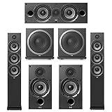Elac Debut 2.0-5.2 System with 2 F6.2 Floorstanding Speakers, 1 C6.2 Center Speaker, 2 B6.2 Bookshelf Speakers, 2 Elac Sub3010 Subwoofers