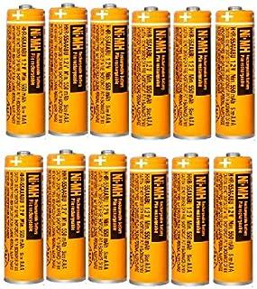 12x Pilas Recargables AAA 550 mah 1.2v para Panasonic, baterias Recargables NiMH para telefonos inalambricos