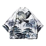 Kimono Robe Japanese Asian Chinese Clothes For Men Unisex Dragon Yukata Retro Party Plus Size Tangsuit Loose Japan Fashion, Color 5, M