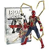 LANMEISM Figura de acción Iron Man Mark MK 85 Figura de acción Modelo de colección Juguete con luz LED (Color : Iron Spider Box)