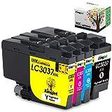 Kingjet LC3037XXL Ink Cartridge Replacement for LC3037, LC3037XL Compatible with MFC-J5845DW, MFC-J5845DWXL, MFC-J5945DW, MFC-J6545DW, MFC-J6545DWXL, MFC-J6945DW Inkjet Printers, 1 Set(1BK+1C+1M+1Y)