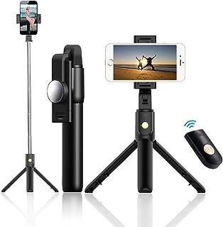DZSF Stativ selfiepinne bärbar lätt mobiltelefon bluetooth universal en självutlösare artefakt kamera telefon stabilisator...