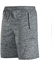 Siskey Lichtgewicht Running of Gym of Training Shorts met Zakken,Fitness Compressie Sneldrogende Shorts