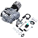 Ambienceo Lifan Complete Engine 125cc Long Case 4 Stroke 1P52FMI-K (124cm3) Dirt Bike Engine Motor Carb Complete Kit for Honda XR50 CRF50 XP CRF 50 70