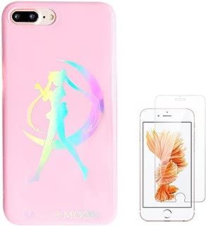 Liquid case for iPhone 6/6 plus/iPhone 7/7 plus/iPhone 8/8 Plus/iPhone x/10 Luxury Bling Glitter Sparkle Stars Transparent Plastic Case (Sailor Moon, iPhone 7/8 (4.7 inch))