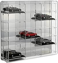 SORA Vetrina espositiva per modellini auto in scala 1:43 con pannello posteriore a specchio