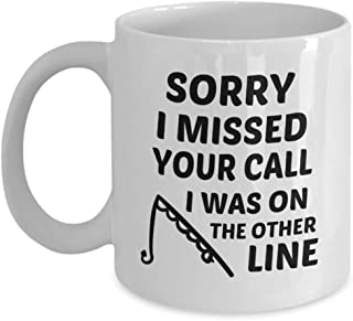 Funny Coffee Mug for Dad Missed Your Call White Ceramic...