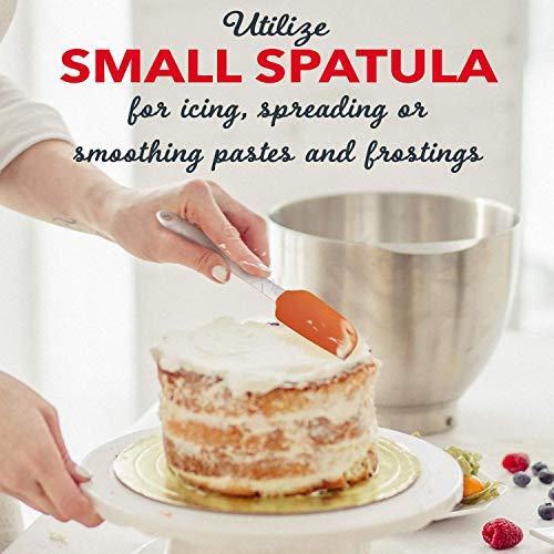 M KITCHEN WORLD Silicone Spatula Set and Silicone Pastry/Basting Brushes Bundle