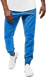 MK988 Mens Elastic Waist Running Solid Plus Size Casual Jogger Pants Sweatpants