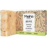 Meina Naturkosmetik - Naturseife, Bio Seife mit Zitronengras und Kurkuma ohne Palmöl, Vegan, Handgemacht (1 x 100 g)*