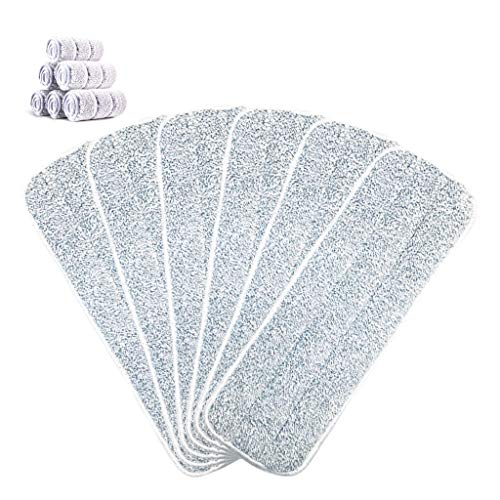 Microfiber Replacement Mop Pad for Wet Dry Cleaning, 6 Packs Reusable Thick Spray Mop Refill Compatible for All 15 Inches Mop Base