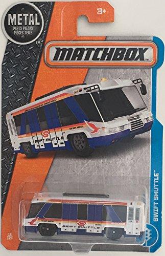 Matchbox 2017 MBX Adventure City Swift Shuttle (Bus) 12/125, White