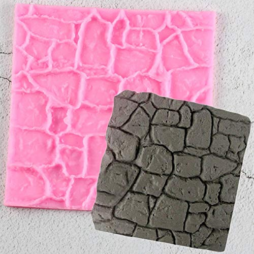 QMGLBG Stone Wall Veins Road Silicone Mold Fondant Mold Cake Decorating Tools Chocolate Mold