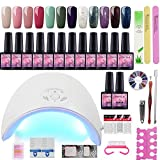 Fashion Zone Gel Nail Polish Starter Kit with 36W LED Nail Dryer Lamp - Best Reviews Guide