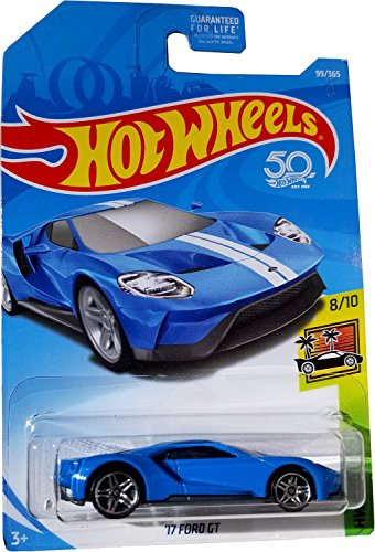 Hot Wheels 2018 50th Anniversary HW Exotics '17 Ford GT 99/365, Blue
