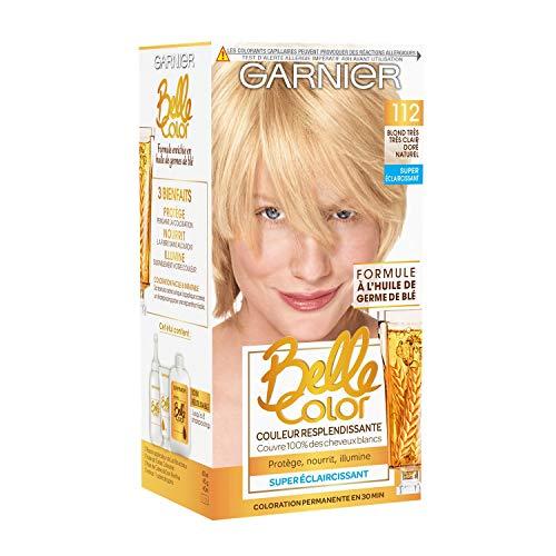 Garnier Crème facil-color blond très très clair doré naturel 112, super éclaircissant, coloration permanente - La boîte de 115ml