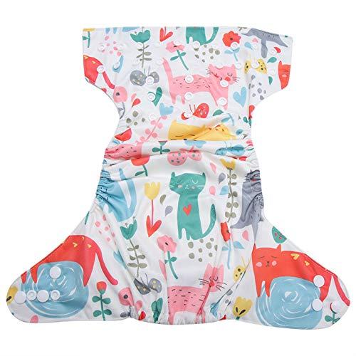 Niiyen Pañal de natación para bebés, Pañal de natación para bebés Reutilizable Pañal de natación para bebés Bolsillo Lavable Gancho de Tela Sistema operativo Tamaño Ajustable(BL032)
