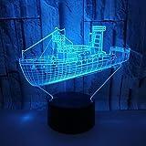 Crucero LED Gradientes De Color 3D Estéreo USB Lámpara De Luz De Noche Remota Toque La Cabecera Del Escritorio Con Imaginación Decoradas Regalo De Cumpleaños De Navidad Lanps De Escritorio