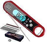 Fleischthermometer Instant Read Digitales Küchenthermometer Grillthermometer, IPX7 Wasserdicht und...
