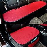 De seda del hielo del asiento de coche cubierta, verano delantera y trasera del asiento transpirable asiento cojines de protección, adecuada para la mayoría de asientos 5 Coches,Rojo