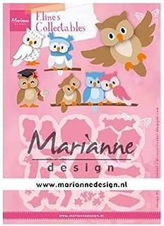 Marianne Design Collectables Matrices de Découpe, Hibou, pour des Motifs Complexes et des Détails en Relief dans le Loisir...