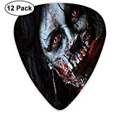 Guitar Picks 12er-Pack, beängstigende tote Frau mit blutiger Axt Evil Fantasy Gothic Mystery Halloween-Bild