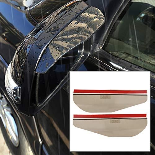 GENG Auto Blind Spiegel Muscheln Auto Rückspiegel Regen Blades Regen-Abdeckung Auto Rückbraue Abdeckungen Flexible Schutzregendicht (1 Paar Transparent) (Color : Brown)