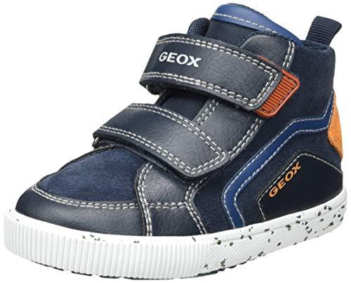 Geox Baby-Jungen B Kilwi Boy C Sneaker, Navy Orange, 24 EU