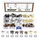 Wokape 40 Sets 4 Colors 14mm Magnetic Button Clasps Assortment Kit, Magnetic Snaps Fastener Clasps...