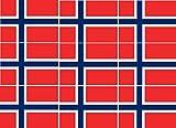 Etaia - 9X Mini Premium Aufkleber - 2,5x4 cm - Fahne/Flagge von Norwegen Norge kleine Sticker fürs Auto Motorrad Fahrrad Europa Länder