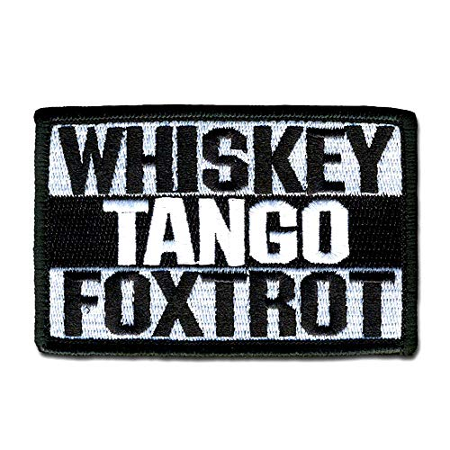 BASTION Morale Patches (Whiskey Tango Foxtrot, BNW)   3D Embroidered Patches with Hook & Loop Fastener Backing   Well-Made Clean Stitching, Military Patches for Tactical Bag, Hats & Vest