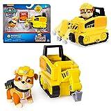 PAW PATROL Ultimate Rescue | Mini Vehículos con Figura del Juego | Patrulla Canina, Figura:Rubble Presslufthammer