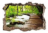 3D WANDILLUSION murando 210x150 cm Wandbild - Fototapete - Poster XXL - Loch 3D - Vlies Leinwand - Panorama Bilder - Dekoration - Natur c-C-0104-t-a