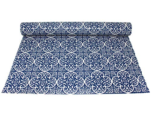 Friedola 78802 Bodenbelag Vintage Floor 65x180cm blau, abwaschbar