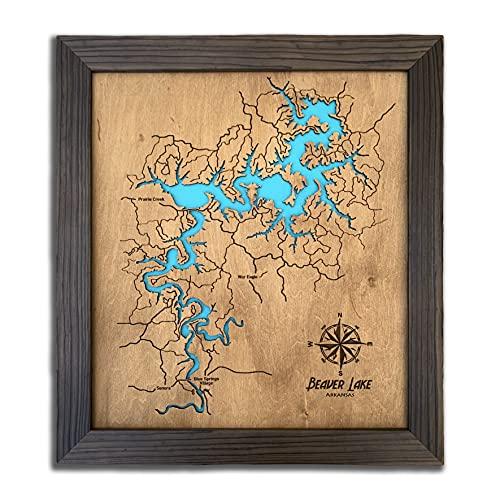 Personalized Gifts Wood Map Custom Lake Map Custom Map Gift Lake Gift Lake House Decor 5th...