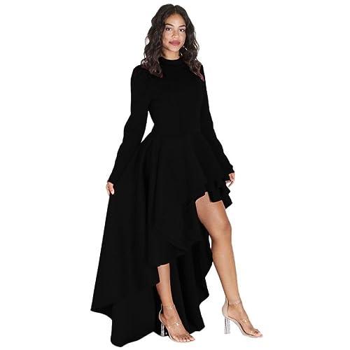 b7d4db818728 Women Girls Fashion Tops GoodLock Lady Female Long Sleeve High Low Peplum  Bodycon Casual Party Club