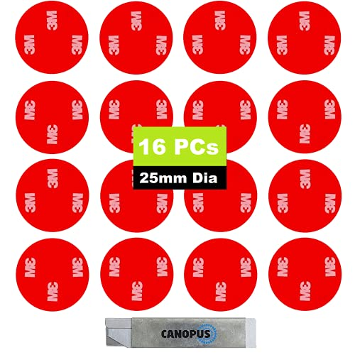 CANOPUS 3M 4229P, 16 PZ, Extra Fuerte Cintas adhesivas de doble cara...
