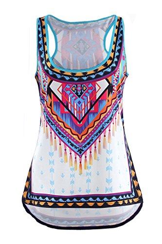 Dewapparel Mujeres Nuevo chaleco del verano Top blusa sin mangas tapas del tanque ocasionales de la camiseta