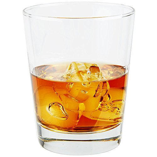 Set of 6 Libbey 816CD Heavy Base Double Rocks/Old Fashioned Glass, 15 ounce, w/Signature Party Picks
