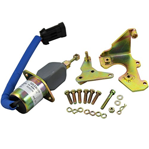 JDMSPEED New Fuel Shut Off Solenoid With Bracket Kits 3931570 5016244AA Replacement For Dodge Diesel Cummins 94-98 5.9L