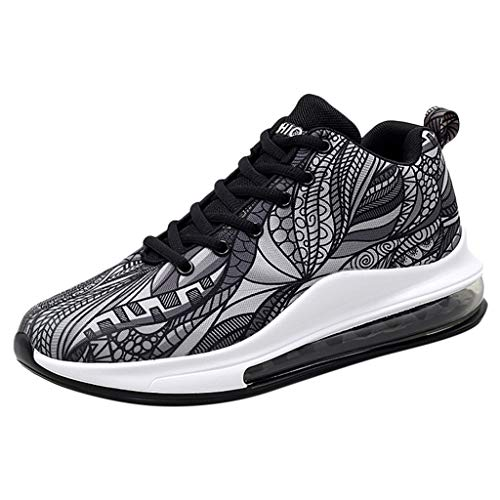 Best Review Of Kiminana Fashion Men's Fashion High-Top Cushion Shock Absorber Basketball Shoes Casua...