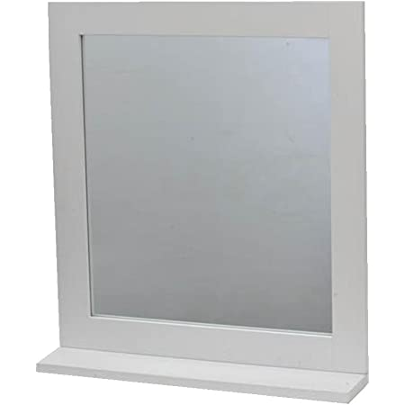 2 en 1 Miroir et Tablette de salle de bain - Style épuré